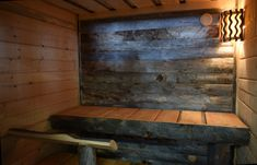 Inside Huliswood's sauna (Uhtua-model)