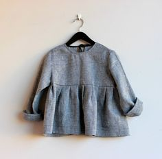 Blouse for girls from natural 100% lithuanian linen