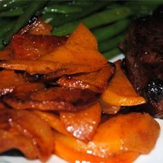 For a #sweet side check out this sweet potato with #apples side dish!