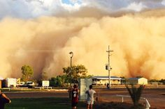 The dust storm turned day into night in Bedourie, Queensland, December 2014. Photo - Leon Love.