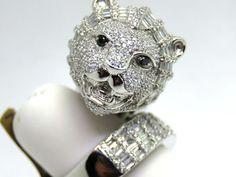 LARGE BIG Diamonds 4.00ct. Colour G-H Clarity VS1-VS2 18k. White Gold Ring K