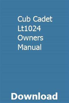 54 Best tingfrugsosi images in 2020 | Manual, Repair manuals ... Wiring Diagram Cub Cadet Lt on