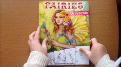 Fairies Grayscale by Alena Lazareva Colouring Book Flip through