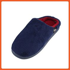uxcell Coral Fleece Family Man Feet Warm Soft Anti-slip Indoor Winter Slippers Navy Blue Pair US 11 - Slippers for women (*Amazon Partner-Link)
