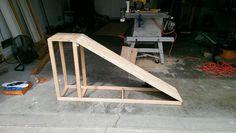 Dog ramp frame