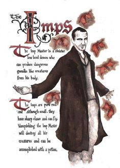 Charmed Series Book of Shadows: Imps and Imp Master Charmed Spells, Charmed Book Of Shadows, Magick Book, Wicca Witchcraft, Magick Spells, Mythological Creatures, Mythical Creatures, Charmed Tv Show, Witch Spell Book