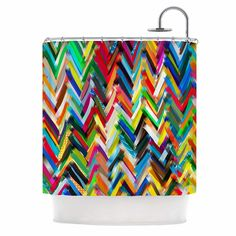 Chevrons by Frederic Levy-Hadida Shower Curtain