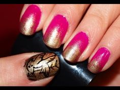 hunger games nail polish tutorial... i still have yet to see the hunger games but this is cute