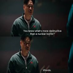 They can destroy lots of people.But also save as many Best Movie Lines, Nuclear Bomb, Good Movies, Tv Shows, Interview, Words, People, Movie Posters, Films