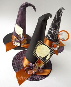 Mini witch hat party favors