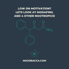 Modafinil, will it boost your motivation