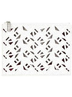 'Flying Kenzo' clutch $306 #farfetch #style #ReviewsClothing