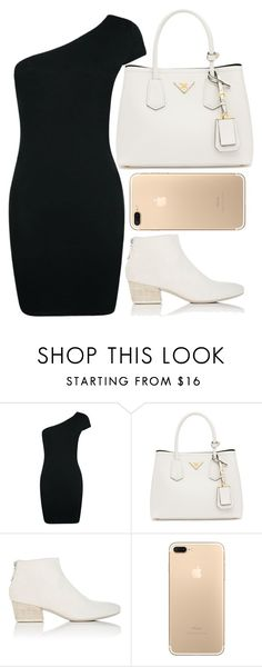"""Rock the iPhone 7"" by mareehamasood246 ❤ liked on Polyvore featuring Boohoo, Prada and Marsèll"
