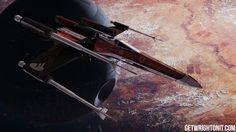 Voando alto! Artista aplica pinturas de carros da F1 em naves de Star Wars #globoesporte