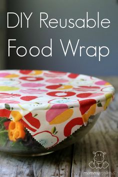 DIY Reusable Food Wrap - This alternative to saran wrap keeps food fresh and is made with 100% biodegradable materials.