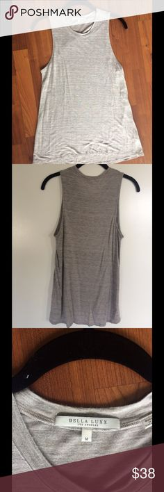Bella Luxx muscle tank in heather grey size Med Light and airy muscle style tank from Los Angeles designer BellaLuxx. Worn only once! Heather grey size Medium. Bella Luxx Tops Muscle Tees
