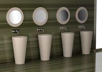 Free-standing washbasin / round / VetroFreddo® / contemporary