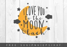 Free Moon And Back SVG