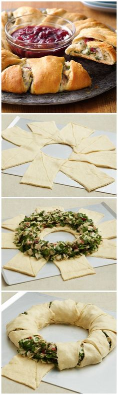 Bring new life to your Thanksgiving leftovers with Pillsbury's easy, flaky crescent ring meal!