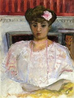 Misia with a Pink Corsage - Pierre Bonnard