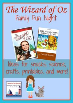 The Wizard of Oz Family Movie Night: Conversation starters, Family Friendly Crafts, and More! It's all part of the Fabulous Family Movie Nights Series at Vibrant Homeschooling. A new movie every Thursday through August 27!