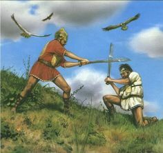 Romulus and Remus Fighting 1, The Roman Empire.  After Romulus won the contest, Remus began to taunt him. Remus would jump over the walls of Rome as they were being constructed. Romulus became angry with Remus and killed him. That day marked the founding of Rome.