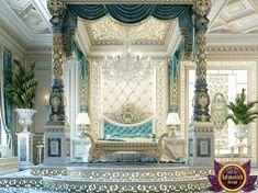 Bedroom Design in Dubai, luxury Royal Master bedroom design, Photo 8