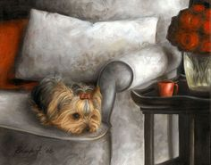 Beyond Washing The Dog Pet Dogs, Dogs And Puppies, Yorky, Creation Photo, Illustrations, Dog Art, Pet Care, Pet Birds, Dog Love