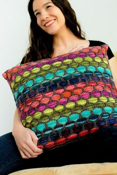 Beautiful pillow! Whistler pillow pattern by pamela wynne