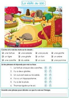 Lecture - Harmos - (page - Maîkresse d'appui Read In French, French Kids, Learn French, French Worksheets, French Education, Core French, French Classroom, French Resources, Online Tutoring