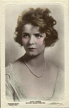 Olive Thomas (1894-1920) & To this day, the true facts of the circumstances of her death remain a question of controversy. http://www.pinterest.com/pin/304415256035391925/