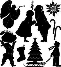 Silhouettes de Noël hiver