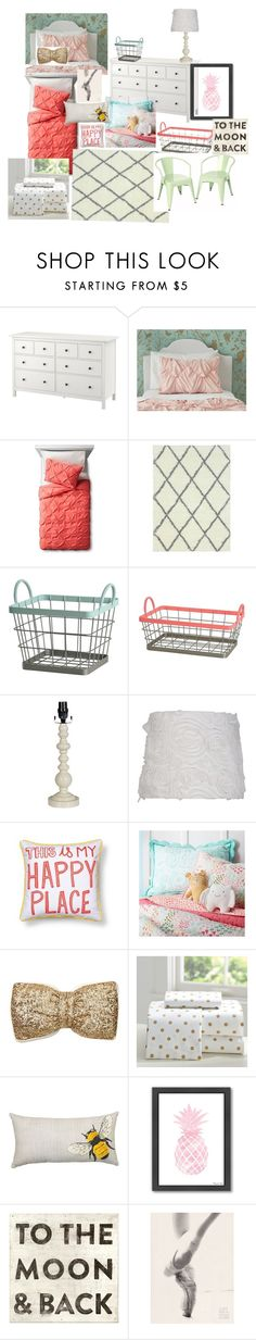Aubrie and Emma's Room by kassi-van-vliet on Polyvore featuring interior, interiors, interior design, home, home decor, interior decorating, Pillowfort, nuLOOM, PBteen and Xhilaration