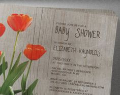 Tulip Baby Shower Invitation