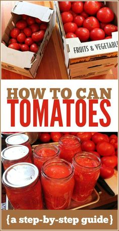 How to Can Tomatoes: A step-by-step guide.  If the bugs don't wreck my garden, I will be able to use this later!