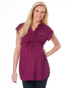 Amazon.com: Motherhood Maternity: Sleeveless Button Front Maternity Tunic: Clothing