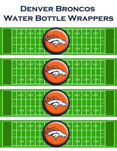 Instant Download NFL Denver Broncos water bottle wrappers! printable DYI jpg Football Team Sports party team Superbowl Blue Orange on Etsy, $3.00