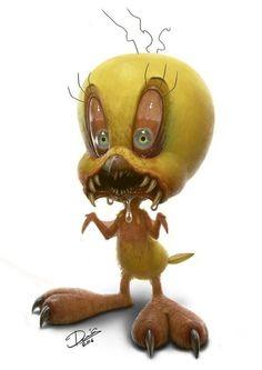 Nicht mehr ganz so niedliche Cartoon-Figuren von Dennis Carlsson