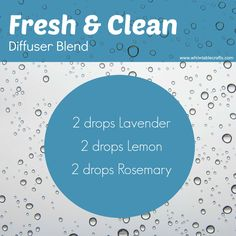 DIFFUSER BLEND IDEA: Start the New Year off Fresh with this Diffuser Blend... Lavender: Ability to calm and soothe the mind and body  Lemon: Cleanses and purifies the air  Rosemary: Combats nervous tension and fatigue  www.mydoterra.com/maryczarnecki