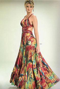 vestido madrinha estampados mm - jαɢlαdy Blue Wedding Dresses, Formal Dresses, Girl Fashion, Fashion Dresses, Tropical Dress, Pleated Maxi, Dream Dress, Dress To Impress, Evening Gowns