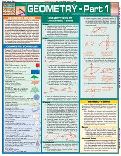 This 4-page guide contains the fundamental structure of geometry. Topics covered include: geometric formulas, description of undefined terms, defined terms, lines & line segments, planes, angels, rays and much more. Browse and download thousands of educational eBooks, worksheets, teacher present