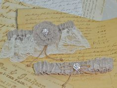 Burlap and Lace Bridal Keepsake and Toss by DESIGNERSHINDIGS, $22.00
