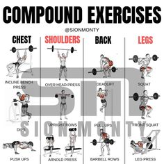 🏋🏻Compound vs 💪🏻Isolation Exercises by (Swipe Left) - ▪️Compound exercises targets and utilizes multiple major muscle groups and… Full Body Workout Routine, Gym Workout Tips, Weight Training Workouts, Dumbbell Workout, Easy Workouts, Gym Tips, Sport Fitness, Fitness Tips, Compound Exercises