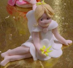 Learn to make an adorable little fondant fairy with step-by-step photos and instructions. These sweet figures make wonderful cake toppers....