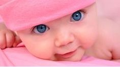 Pink Little baby Girl with Big Eyes. A cute little baby girl is staring up and i , So Cute Baby, Baby Kind, Baby Love, Cute Kids, Cute Babies, Baby Baby, Pretty Baby, Babies Pics, Child Baby