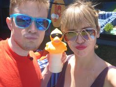 Duck face! Johnny Mac and Meg :)