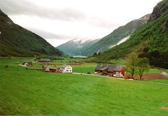 Rural Norway, by Margaret Hyde. This area is between Bergen and Voss, Norway