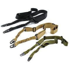 Ajustable de Nylon de Múltiples funciones de Dos Punto Táctico Bungee Rifle Sling Correa de Arma de La Caza Al Aire Libre Airsoft Montaje Kit de Sistema de