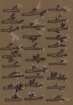 Anna Ruby King - Twig study - from etsy - could easily be embroidered if you changed the design some-- don't want to copy someone else's art.