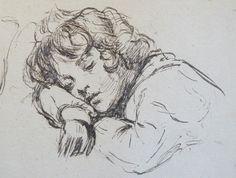 Desboutin Marcellin - Petit dormeur (I) (détail)